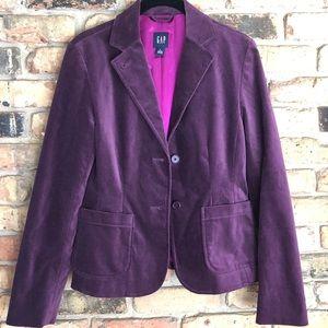 Purple Gap Velvet Blazer